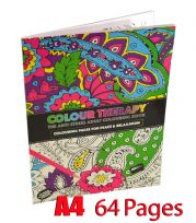 Colour Therapy Adult A4 64 Pages Soft Back Anti Stress Colouring Book Brand New